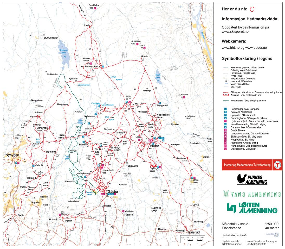 kart gåsbu Skikart for Hedmarksvidda   Budor.no kart gåsbu