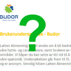 Brukerundersøkelse om Budor